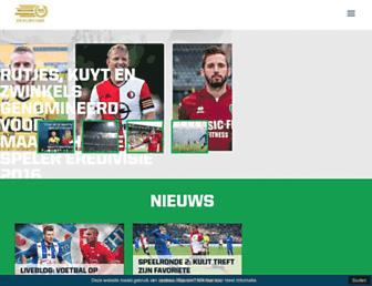 Main page screenshot of eredivisie.nl
