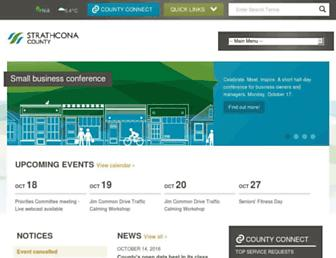 strathcona.ca screenshot