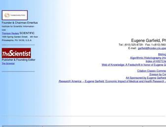 garfield.library.upenn.edu screenshot