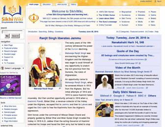 sikhiwiki.org screenshot