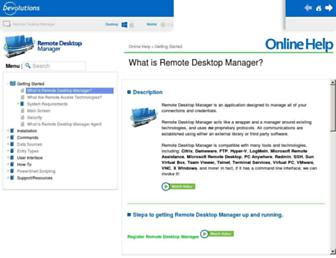 help.remotedesktopmanager.com screenshot