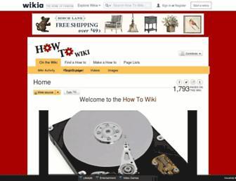 how-to.wikia.com screenshot
