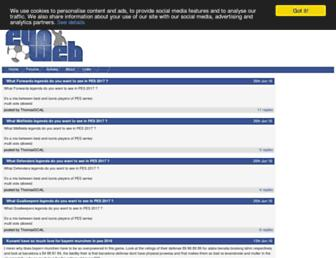 Main page screenshot of evo-web.co.uk