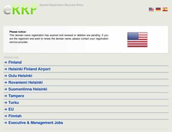 Main page screenshot of wwp.finland-eu.net