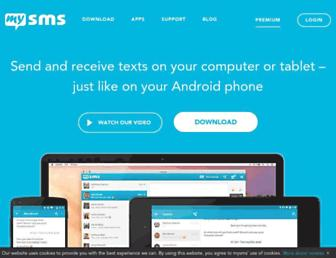 mysms.com screenshot