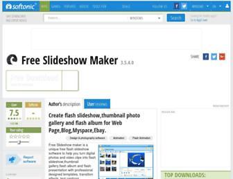 free-slideshow-maker.en.softonic.com screenshot
