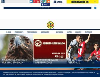 clubamerica.com.mx screenshot