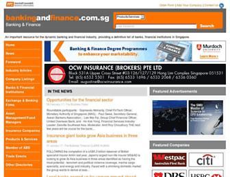 bankingandfinance.com.sg screenshot