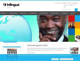 Main page screenshot of inlingua-freiburg.de