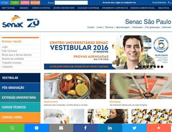 sp.senac.br screenshot
