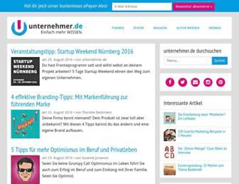 unternehmer.de screenshot
