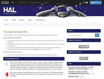 hal.archives-ouvertes.fr screenshot