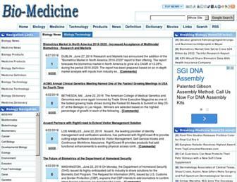 Main page screenshot of bio-medicine.org