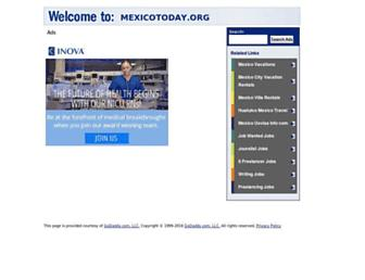 Main page screenshot of mexicotoday.org