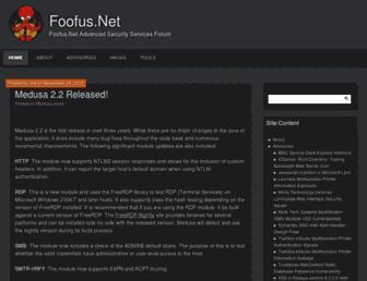 Main page screenshot of h.foofus.net