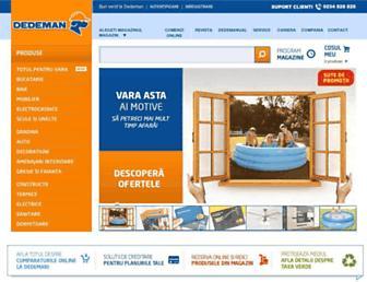 dedeman.ro screenshot