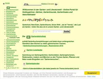 Main page screenshot of garten-literatur.de