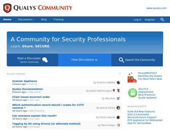 community.qualys.com screenshot