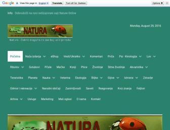 Main page screenshot of natura.rs