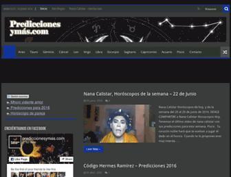 prediccionesymas.com screenshot