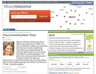 Thumbshot of Visualthesaurus.com