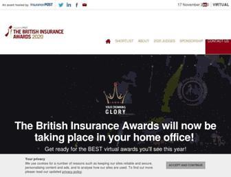 insuranceawards.com screenshot