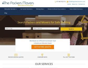 thepackersmovers.com screenshot