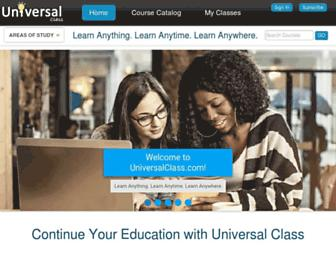 universalclass.com screenshot