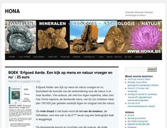 Main page screenshot of hona.be