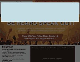 Main page screenshot of musicfirstcoalition.org
