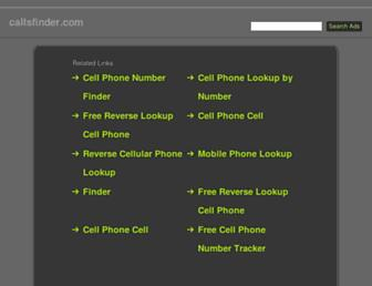 Thumbshot of Callsfinder.com