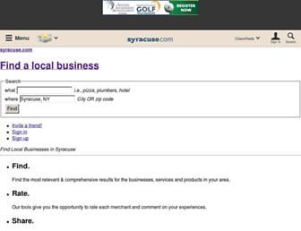 businessfinder.syracuse.com screenshot