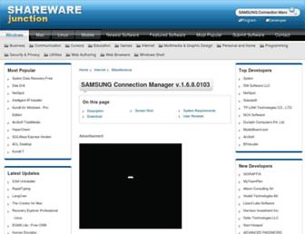 samsung-connection-manager.sharewarejunction.com screenshot