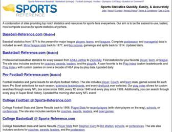 sports-reference.com screenshot