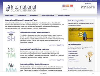 internationalstudentinsurance.com screenshot