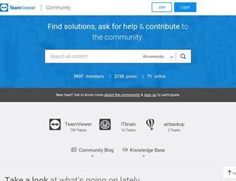 community.teamviewer.com screenshot