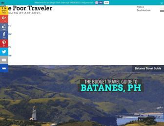 thepoortraveler.net screenshot