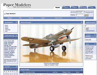 Thumbshot of Papermodelers.com