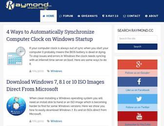 Main page screenshot of raymond.cc