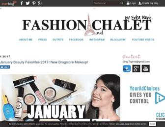 Main page screenshot of fashionchalet.net