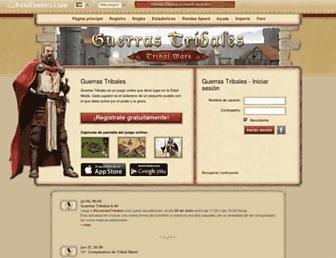 Fullscreen thumbnail of guerrastribales.es