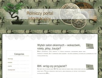 Main page screenshot of agronom.info.pl
