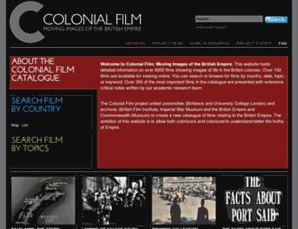 colonialfilm.org.uk screenshot