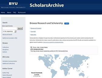 scholarsarchive.byu.edu screenshot