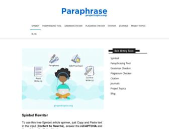 paraphrase.projecttopics.org screenshot