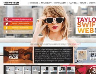 Main page screenshot of taylorswiftweb.net