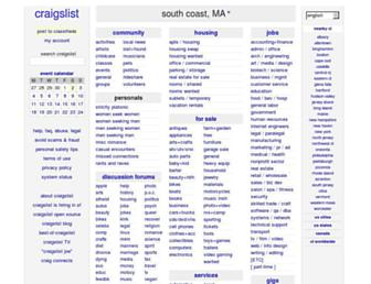 southcoast.craigslist.org screenshot