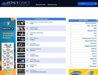 Thumbshot of Onlylyrics.com