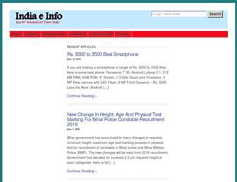 indiaeinfo.com screenshot
