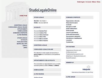 Main page screenshot of studiolegale-online.net